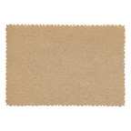 9.5x6.5cm Deckle Edge Card Natural Kraft