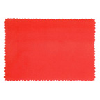 9.5x6.5cm Deckle Edge Card Red