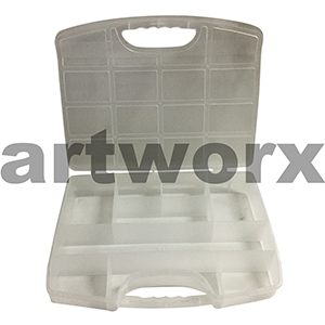 370x270mm Carry Case 12 Compartments with Handle