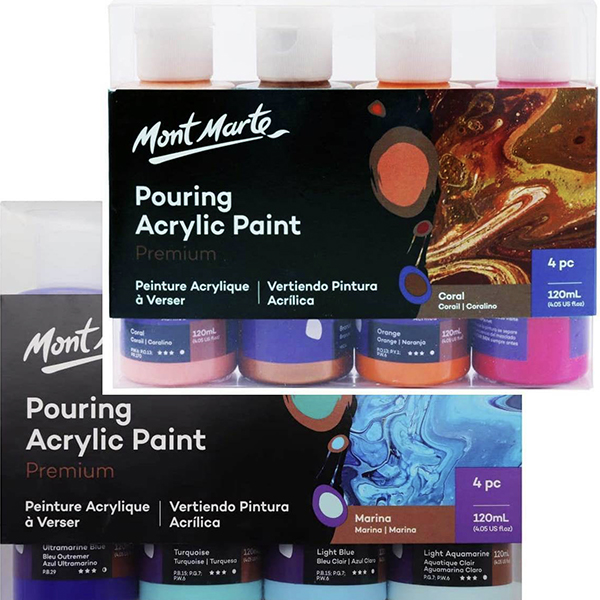 Mont Marte Pouring Paint 120ml Sets
