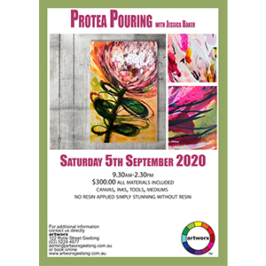 Saturday 5th September 2020 Protea Pouring Abstract Workshop - All Materials Included