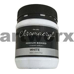 White Chromacryl 250ml Pot