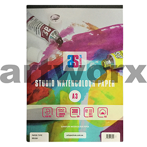 300gsm A3 12 Sheet Rough Art Spectrum Pad