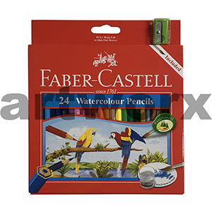 24pc Watercolour Pencils with Sharpener Playing & Learning Faber-Castell