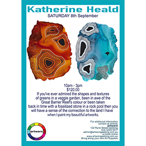 Saturday 8th September Alcohol Ink Workshop with Katherine Heald 2018