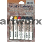 6pc Basic Colours Shiva Oil Paintsticks