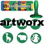 Jungle Animals Paint Stamper Six pcs