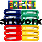 12pcs Painting Pegs Classroom Art Supplies