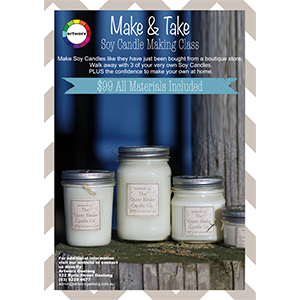 Saturday 6th April 10am - 12noon Soy Candle Making Class - All Materials Included