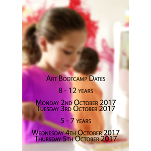 8-12 year olds 2nd-3rd October School Holiday Program Art Bootcamp 2017