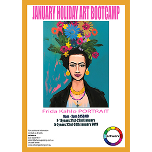 BOOKED OUT 8-12yrs 21st & 22nd January Kids Art Bootcamp 2019