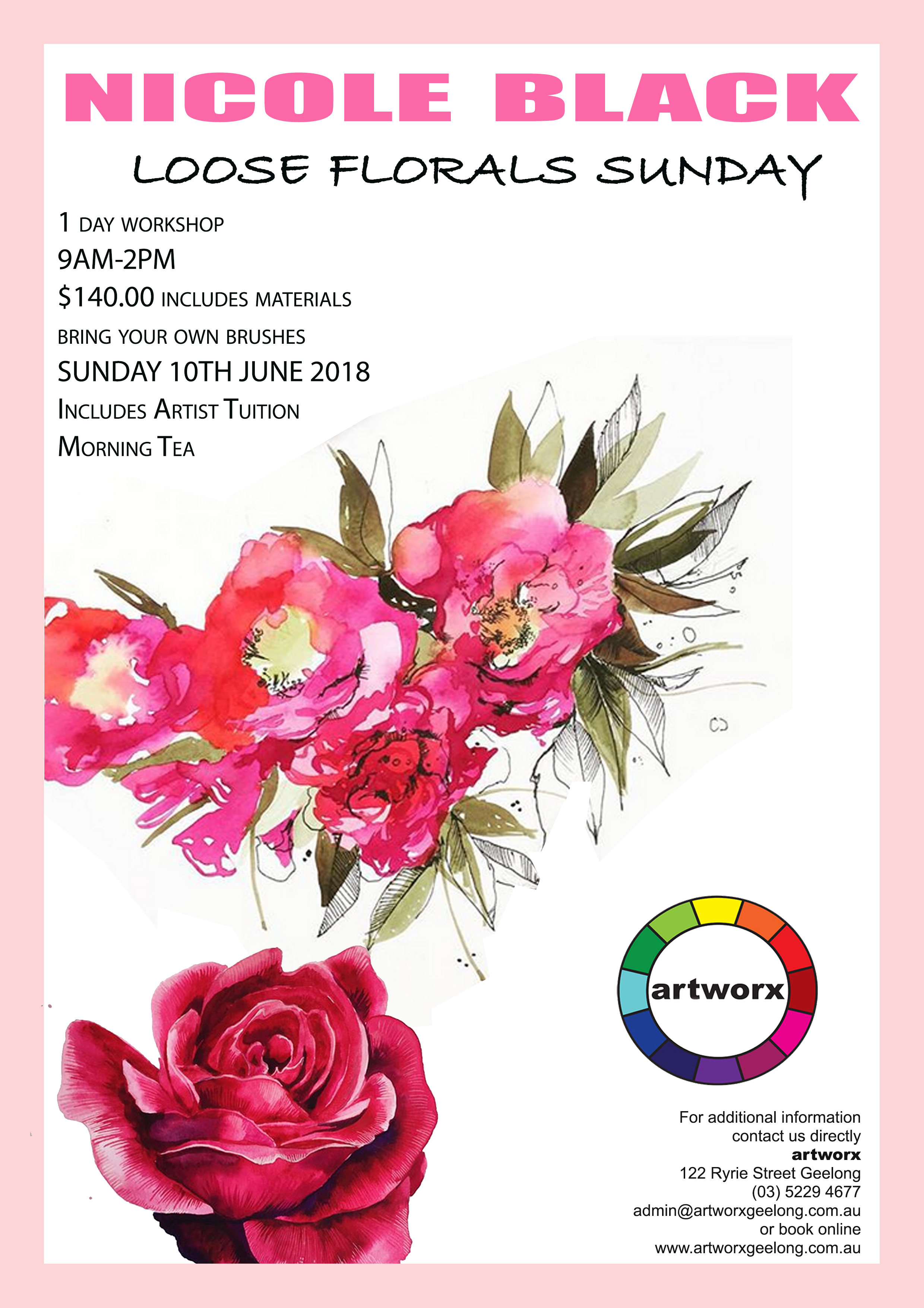 Loose Florals Sunday 10th June Nicole Black