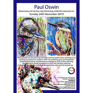 24th November Birds Watercolour & Ink with artist Paul Oswin