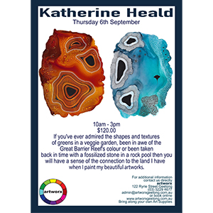 Thursday 6th September Alcohol Ink Workshop with Katherine Heald 2018