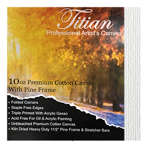 12x36 Inch White Cotton Titian Canvas