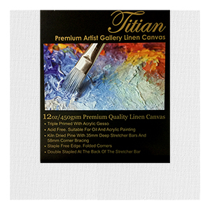 40x60 Inch Titian Primed Canvas