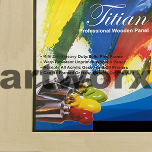 "6x6"" Wood Canvas Panel Titian"