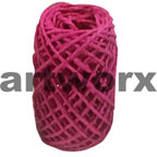 Plain Coloured Paper Twine 15m Magenta