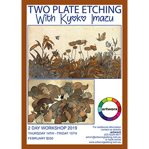 14th & 15th February 2 Plate Etching Workshop