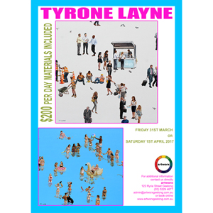 Friday 31st March 2017 Oil Painting Workshop with artist Tyrone Layne - All Artist Materials Included
