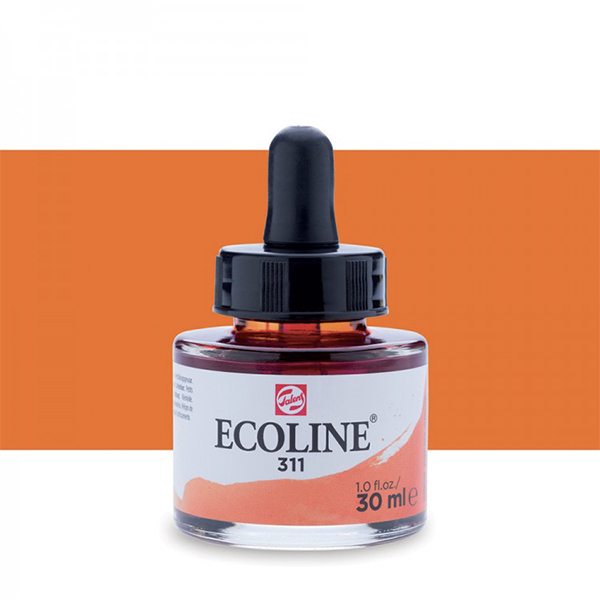 Vermillion Talens Ecoline Ink 30ml