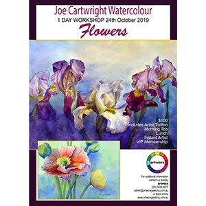 24th October Flowers Watercolour with artist Joe Cartwright