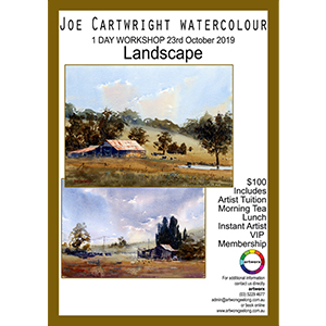 23rd October Landscape Watercolour with artist Joe Cartwright
