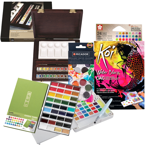 Assorted Watercolour Pan Sets