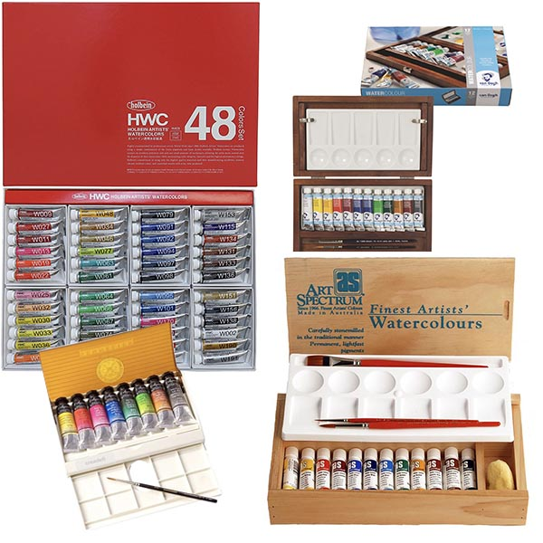 Assorted Watercolour Tube Paint Sets