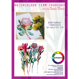 Morning 7 Week Term Water Colour Painting Classes