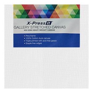3x4 inch Gallery Stretched Canvas X-Press